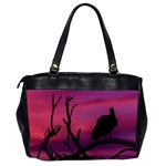 Vultures At Top Of Tree Silhouette Illustration Office Handbags (2 Sides)  Back