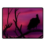 Vultures At Top Of Tree Silhouette Illustration Fleece Blanket (Small) 50 x40 Blanket Front
