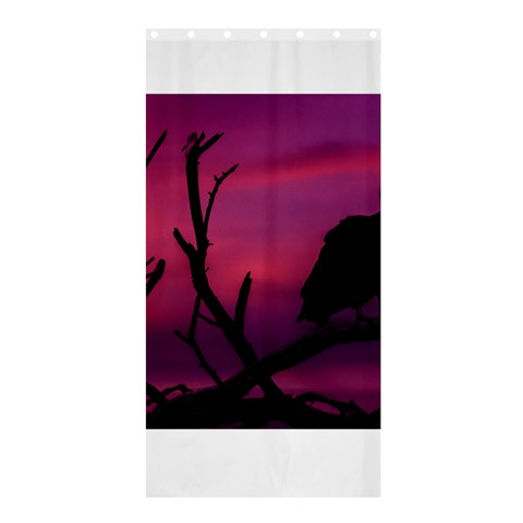 Vultures At Top Of Tree Silhouette Illustration Shower Curtain 36  x 72  (Stall)