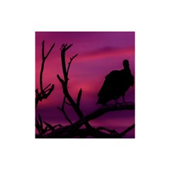 Vultures At Top Of Tree Silhouette Illustration Shower Curtain 48  X 72  (small)