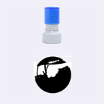 Vultures At Top Of Tree Silhouette Illustration Rubber Round Stamps (Small) 1.12 x1.12  Stamp