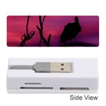 Vultures At Top Of Tree Silhouette Illustration Memory Card Reader (Stick)  Front