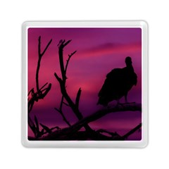Vultures At Top Of Tree Silhouette Illustration Memory Card Reader (Square)