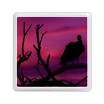 Vultures At Top Of Tree Silhouette Illustration Memory Card Reader (Square)  Front