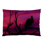 Vultures At Top Of Tree Silhouette Illustration Pillow Case (Two Sides) Front
