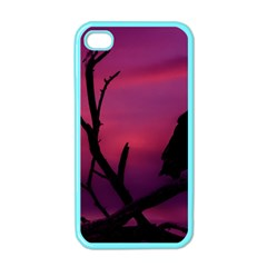 Vultures At Top Of Tree Silhouette Illustration Apple Iphone 4 Case (color)