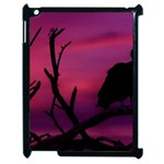 Vultures At Top Of Tree Silhouette Illustration Apple iPad 2 Case (Black) Front