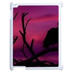 Vultures At Top Of Tree Silhouette Illustration Apple iPad 2 Case (White) Front