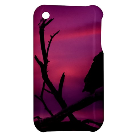 Vultures At Top Of Tree Silhouette Illustration Apple iPhone 3G/3GS Hardshell Case