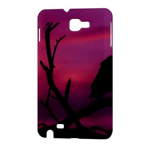 Vultures At Top Of Tree Silhouette Illustration Samsung Galaxy Note 1 Hardshell Case