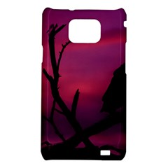 Vultures At Top Of Tree Silhouette Illustration Samsung Galaxy S2 i9100 Hardshell Case