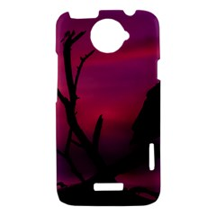 Vultures At Top Of Tree Silhouette Illustration HTC One X Hardshell Case