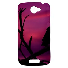 Vultures At Top Of Tree Silhouette Illustration HTC One S Hardshell Case