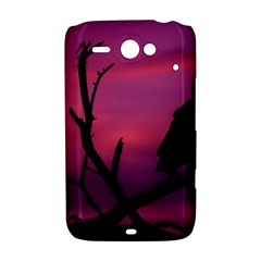 Vultures At Top Of Tree Silhouette Illustration HTC ChaCha / HTC Status Hardshell Case