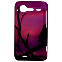 Vultures At Top Of Tree Silhouette Illustration HTC Incredible S Hardshell Case