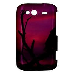 Vultures At Top Of Tree Silhouette Illustration HTC Wildfire S A510e Hardshell Case