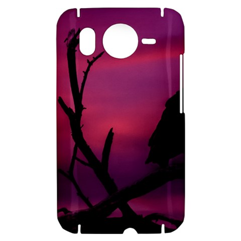 Vultures At Top Of Tree Silhouette Illustration HTC Desire HD Hardshell Case