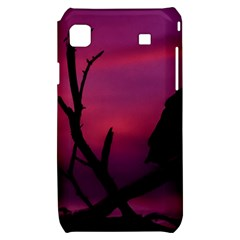 Vultures At Top Of Tree Silhouette Illustration Samsung Galaxy S i9000 Hardshell Case