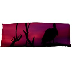 Vultures At Top Of Tree Silhouette Illustration Body Pillow Case (Dakimakura)