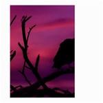 Vultures At Top Of Tree Silhouette Illustration Large Garden Flag (Two Sides) Back