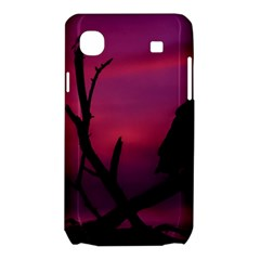 Vultures At Top Of Tree Silhouette Illustration Samsung Galaxy SL i9003 Hardshell Case
