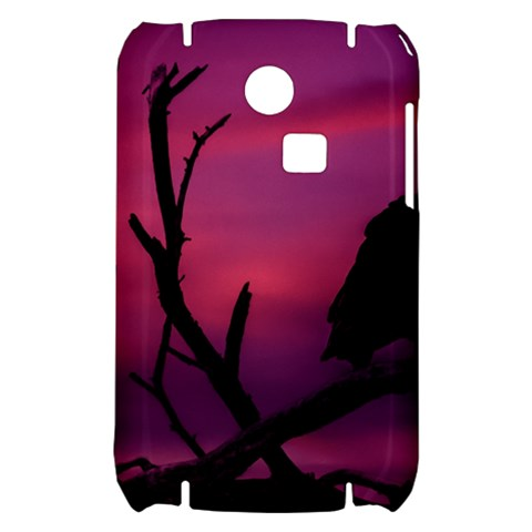Vultures At Top Of Tree Silhouette Illustration Samsung S3350 Hardshell Case