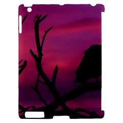 Vultures At Top Of Tree Silhouette Illustration Apple iPad 2 Hardshell Case (Compatible with Smart Cover)