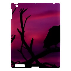 Vultures At Top Of Tree Silhouette Illustration Apple iPad 3/4 Hardshell Case
