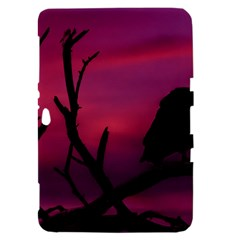 Vultures At Top Of Tree Silhouette Illustration Samsung Galaxy Tab 8.9  P7300 Hardshell Case
