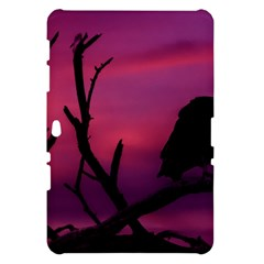 Vultures At Top Of Tree Silhouette Illustration Samsung Galaxy Tab 10.1  P7500 Hardshell Case