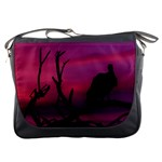 Vultures At Top Of Tree Silhouette Illustration Messenger Bags Front