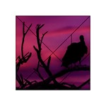 Vultures At Top Of Tree Silhouette Illustration Acrylic Tangram Puzzle (4  x 4 ) Front
