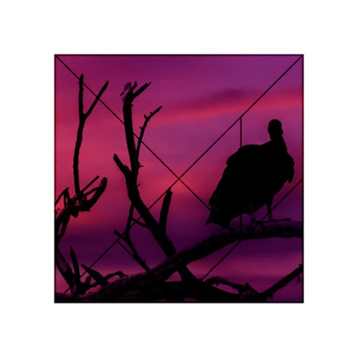 Vultures At Top Of Tree Silhouette Illustration Acrylic Tangram Puzzle (4  x 4 )