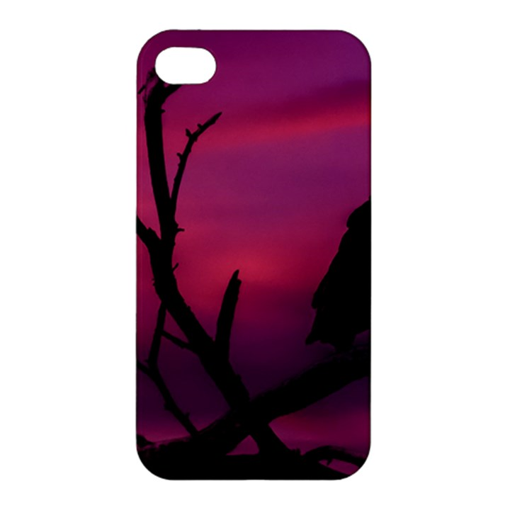Vultures At Top Of Tree Silhouette Illustration Apple iPhone 4/4S Premium Hardshell Case