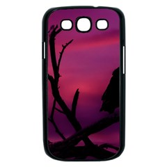 Vultures At Top Of Tree Silhouette Illustration Samsung Galaxy S III Case (Black)
