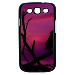 Vultures At Top Of Tree Silhouette Illustration Samsung Galaxy S III Case (Black) Front