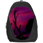 Vultures At Top Of Tree Silhouette Illustration Backpack Bag Front