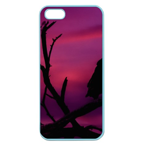 Vultures At Top Of Tree Silhouette Illustration Apple Seamless iPhone 5 Case (Color)
