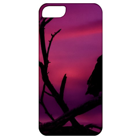 Vultures At Top Of Tree Silhouette Illustration Apple iPhone 5 Classic Hardshell Case