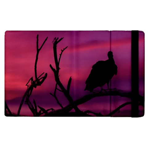 Vultures At Top Of Tree Silhouette Illustration Apple iPad 2 Flip Case
