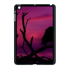 Vultures At Top Of Tree Silhouette Illustration Apple Ipad Mini Case (black)