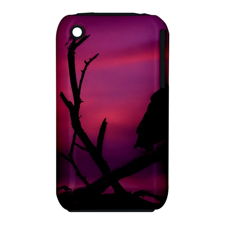 Vultures At Top Of Tree Silhouette Illustration Apple iPhone 3G/3GS Hardshell Case (PC+Silicone)