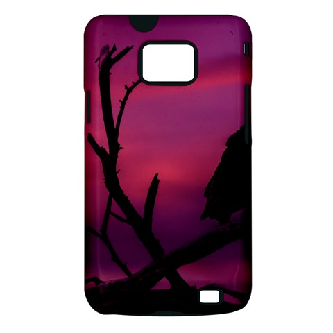 Vultures At Top Of Tree Silhouette Illustration Samsung Galaxy S II i9100 Hardshell Case (PC+Silicone)