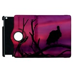 Vultures At Top Of Tree Silhouette Illustration Apple iPad 3/4 Flip 360 Case Front
