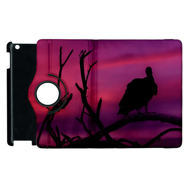 Vultures At Top Of Tree Silhouette Illustration Apple iPad 3/4 Flip 360 Case
