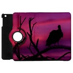 Vultures At Top Of Tree Silhouette Illustration Apple iPad Mini Flip 360 Case Front