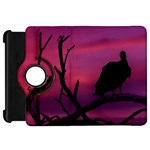 Vultures At Top Of Tree Silhouette Illustration Kindle Fire HD Flip 360 Case Front