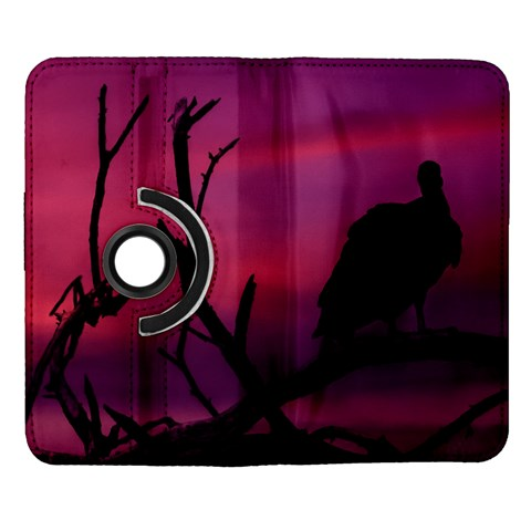Vultures At Top Of Tree Silhouette Illustration Samsung Galaxy Note II Flip 360 Case
