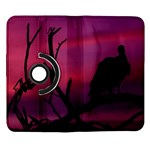 Vultures At Top Of Tree Silhouette Illustration Samsung Galaxy Note II Flip 360 Case Front