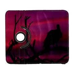 Vultures At Top Of Tree Silhouette Illustration Samsung Galaxy S  Iii Flip 360 Case